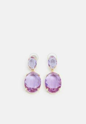 DAUPHINE OVAL PENDANT EAR - Earrings - lilac