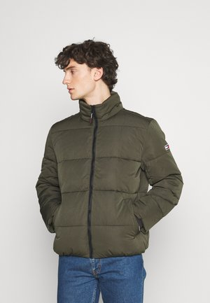 SHORT CASUAL PUFFER  - Winterjacke - dark olive