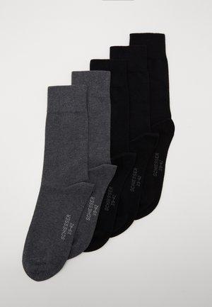 5 PACK - Strumpor - black