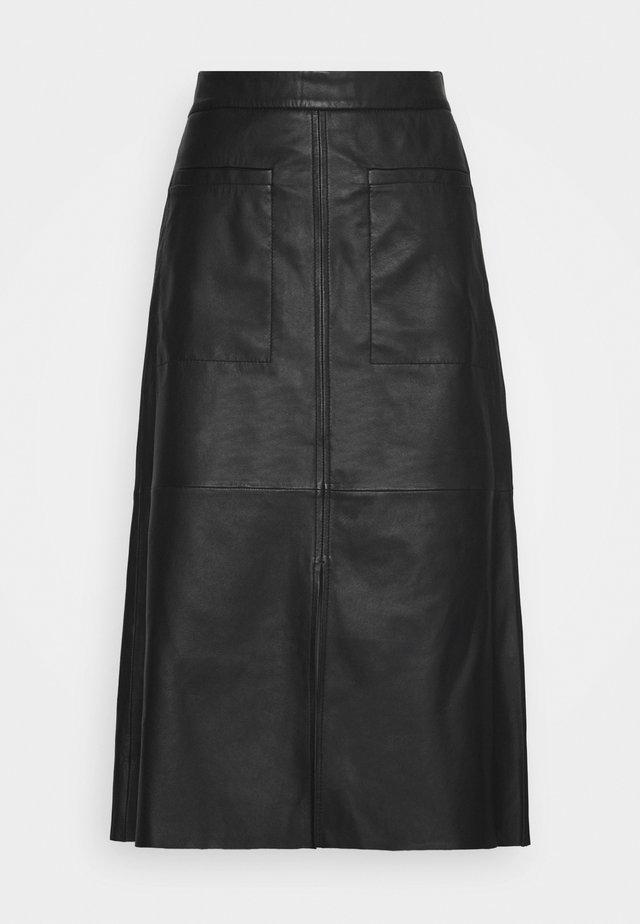 Jupe en cuir - black