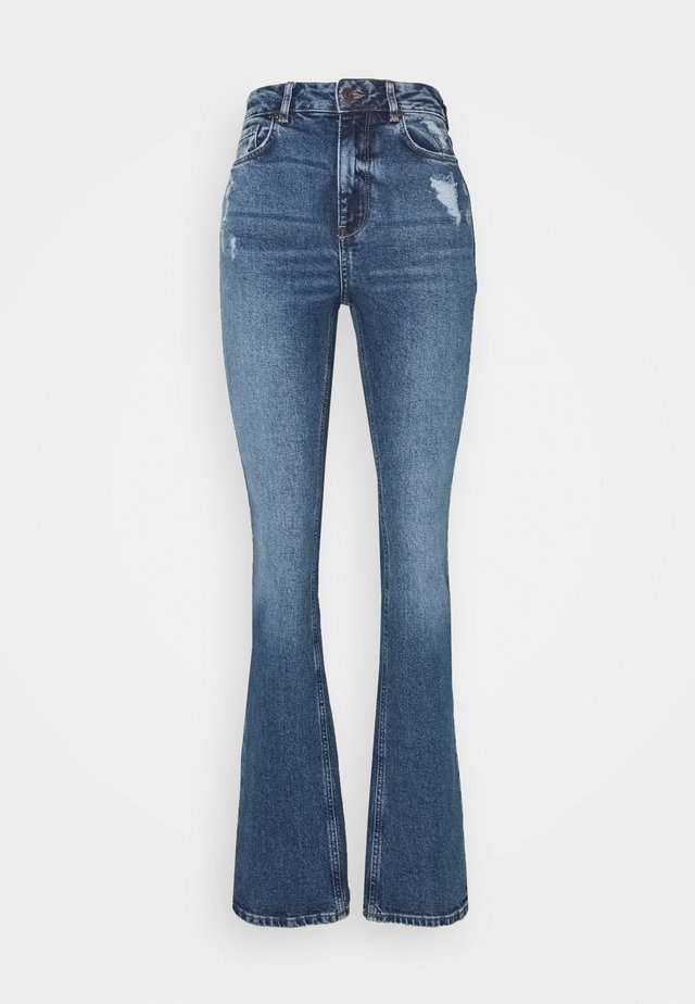 AUTHENTIC DIAGON - Flared Jeans - mid blue