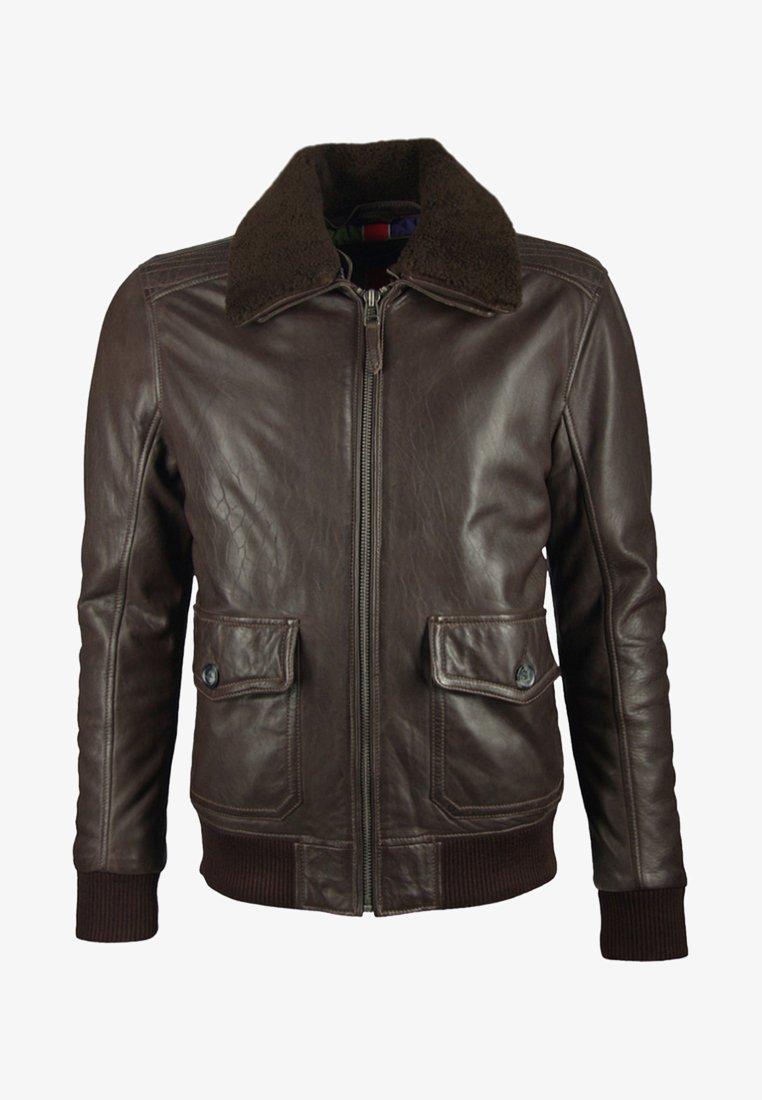 deercraft - Leather jacket - dark brown