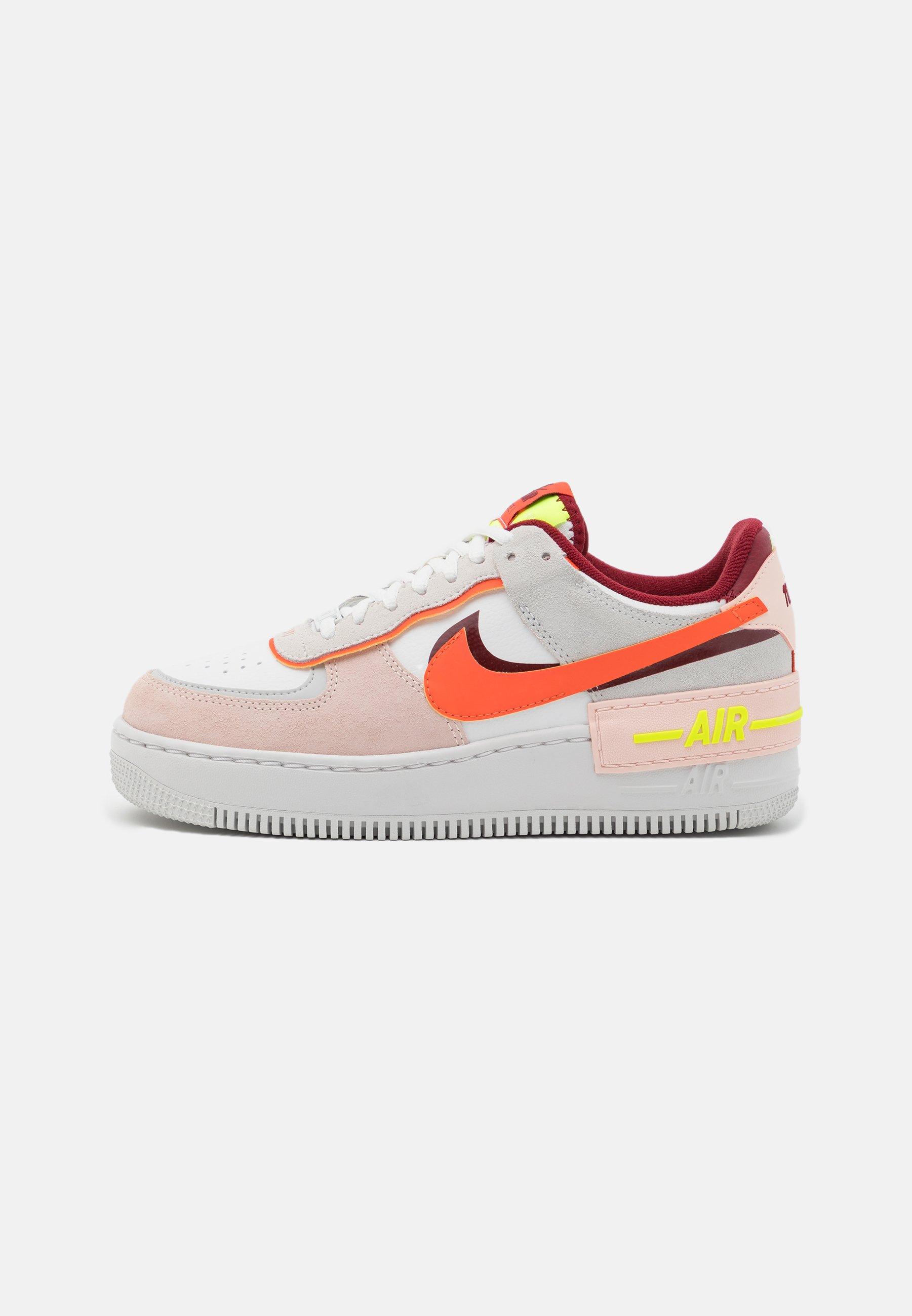 AIR FORCE 1 SHADOW - Sneakers basse - team red/orange/orange pearl/volt