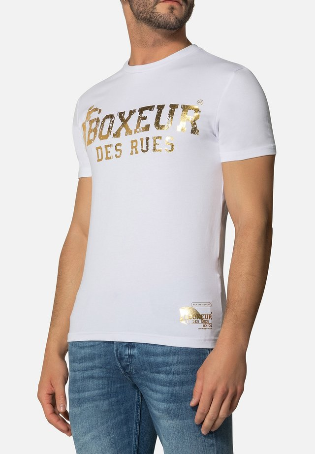 T-shirt con stampa - white gold