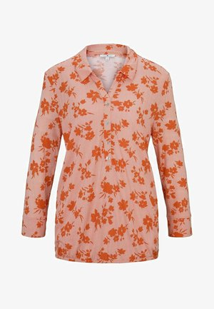 T-SHIRT GEMUSTERTES T-SHIRT - Blouse - orange/coral