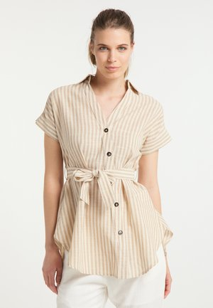Button-down blouse - sand weiss