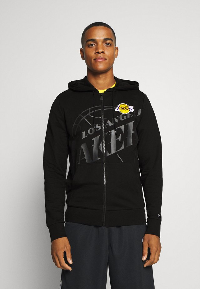 NBA LOS ANGELES LAKERS BIG LOGO FULL ZIP HOODY - Article de supporter - black