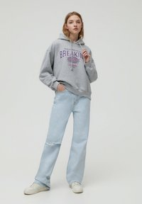 PULL&BEAR - Bluza z kapturem - dark grey - 1
