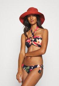 Seafolly - SUMMER MEMOIRS RUCHED SIDE HIPSTER - Bikini bottoms - indigo - 1