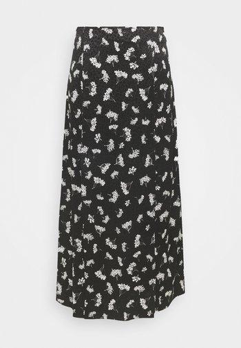 JISEILLE - A-line skirt - groseilles noir