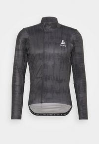 ODLO - MIDLAYER FULL ZIP ZEROWEIGHT CERAMIWARM - Sports shirt - graphite grey/black - 3