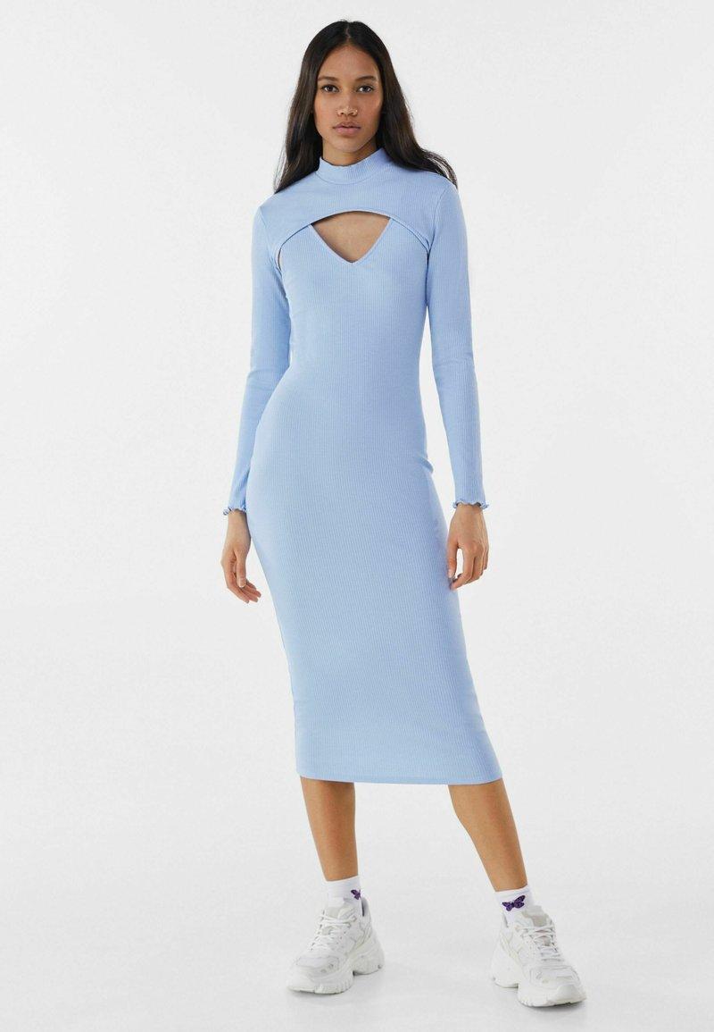 Bershka - Shift dress - light blue