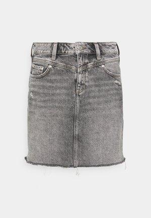 EVELYN - Spódnica mini - grey denim