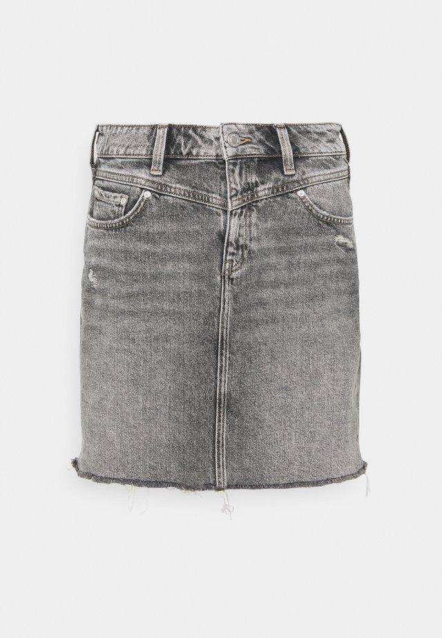EVELYN - Minigonna - grey denim