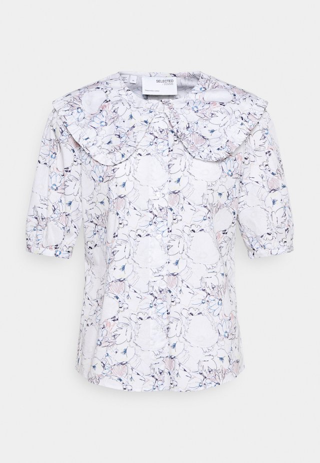 SLFROSELLA - Button-down blouse - snow white