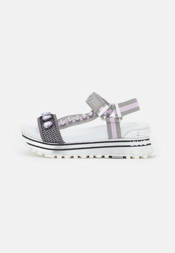 MAXI  - Platform sandals - ciment