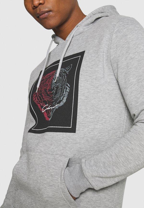 CLOSURE London SPLIT FURY LOGO HOODY - Bluza z kapturem - grey/szary Odzież Męska FTYT