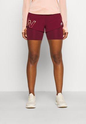 PRINTED IMPACT RUN SHORT - Sports shorts - garnet
