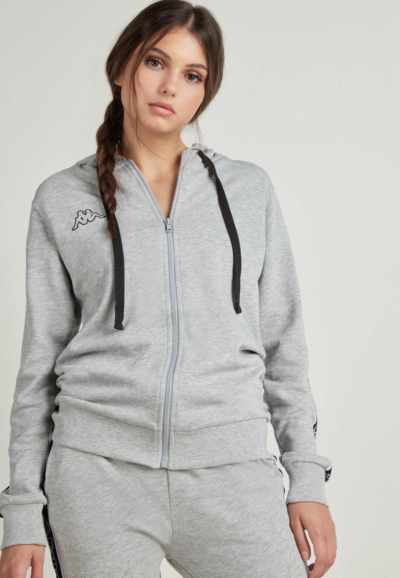 Tezenis - MIT KAPPA KAPUZE - Zip-up hoodie - grigio melange chiar