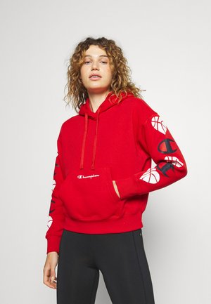 LOVE HOODED - Mikina - red