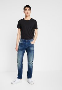 G-Star - 3301 SLIM - Slim fit jeans - joane stretch denim worker blue faded - 1