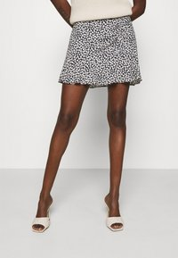 Abercrombie & Fitch - CINCH DETAIL SKIRT - A-line skirt - navy - 0