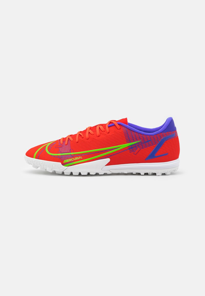 Nike Performance - MERCURIAL VAPOR 14 ACADEMY TF - Astro turf trainers - bright crimson/metallic silver