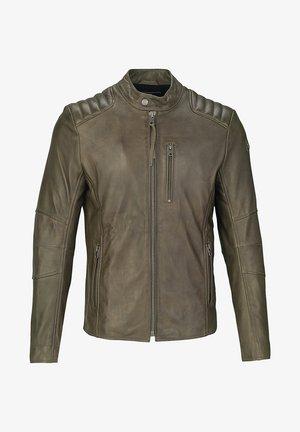 Leather jacket - olive