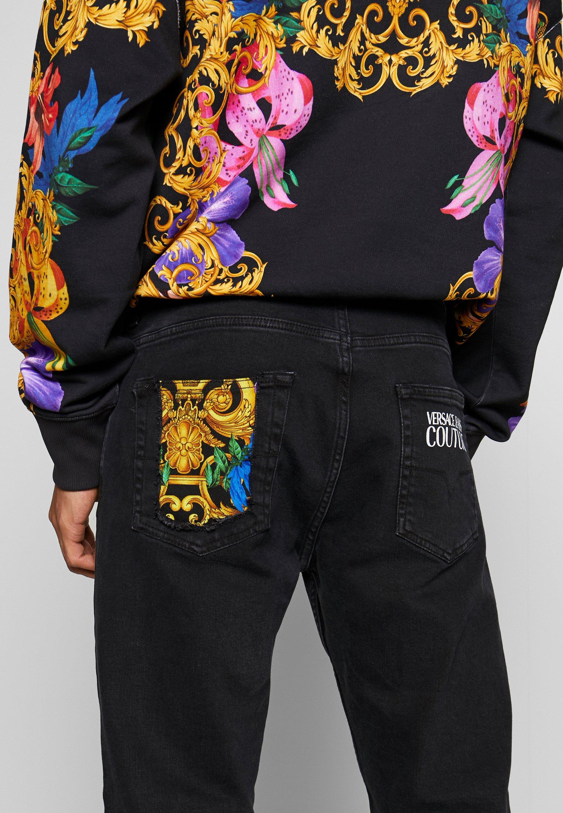 Versace Jeans Couture MILANO JUNGLE BACK POCKET - Jean slim - black