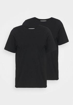 ALLAN 2 PACK - Basic T-shirt - black