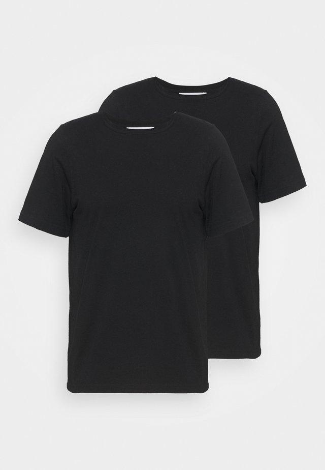 ALLAN 2 PACK - Jednoduché triko - black