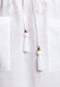Tory Burch - MIDI TUNIC DRESS - Day dress - white - 7