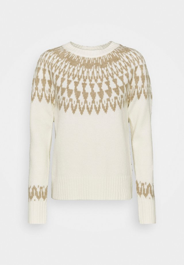 COZY FAIR ISLE - Maglione - soft powder beige