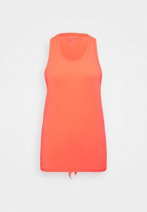 TIE BACK TANK NON HOT - Treningsskjorter - fiery coral neon