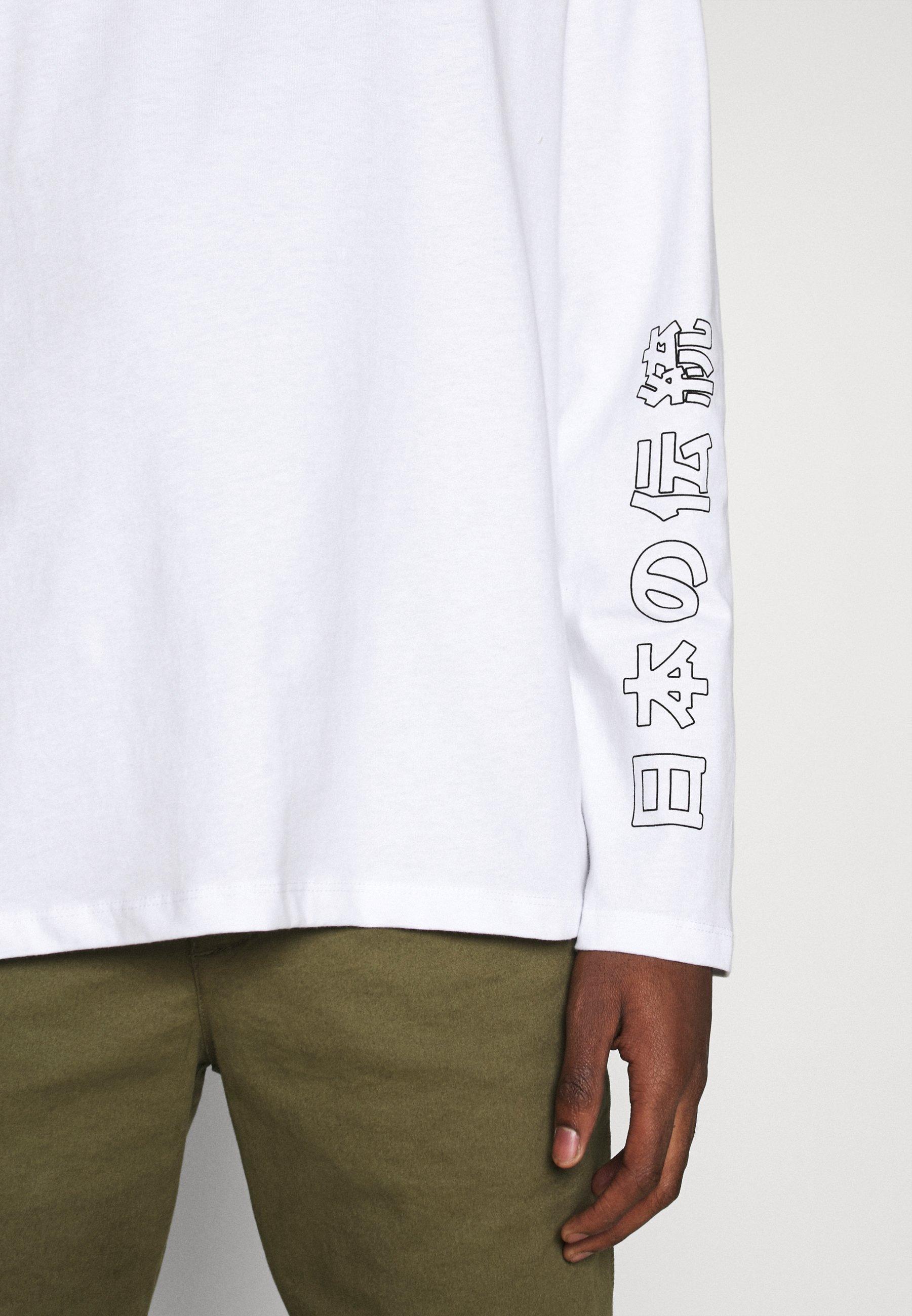 Jack & Jones JORSUMIRE TEE CREW NECK  - Long sleeved top - white oJ4pz