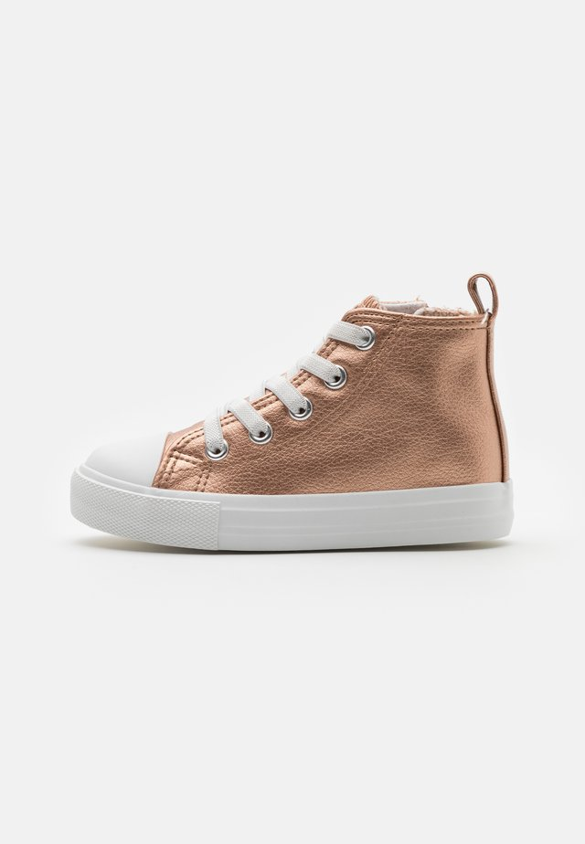 CLASSIC TOP LACE UP - Baskets montantes - rose gold metallic