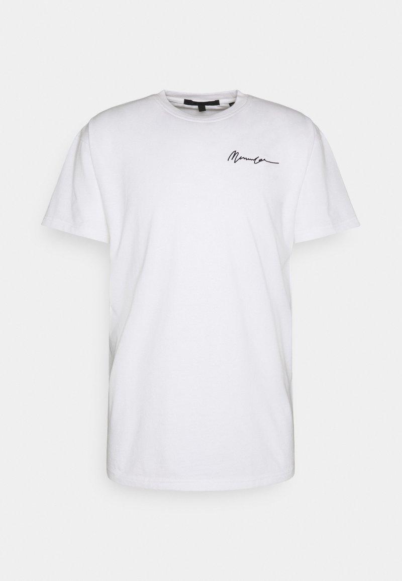 Mennace - ESSENTIAL REGULAR UNISEX - Print T-shirt - white
