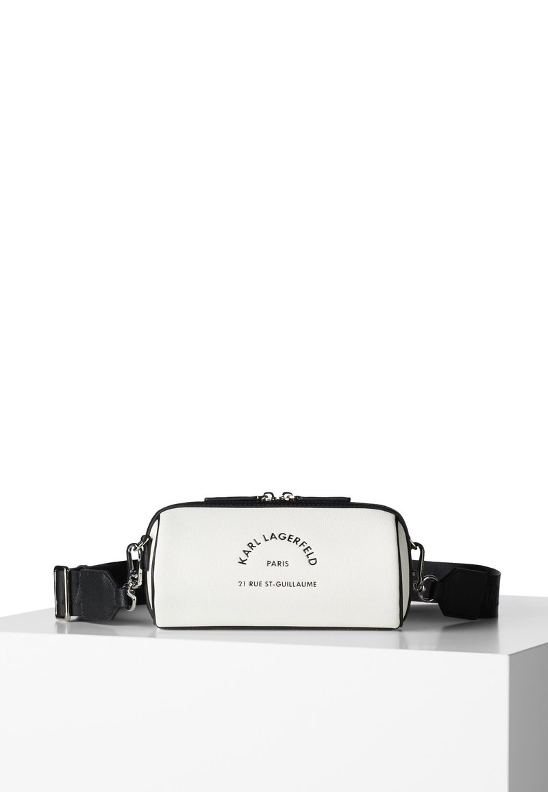 KARL LAGERFELD - BARREL BAG - Riñonera - white