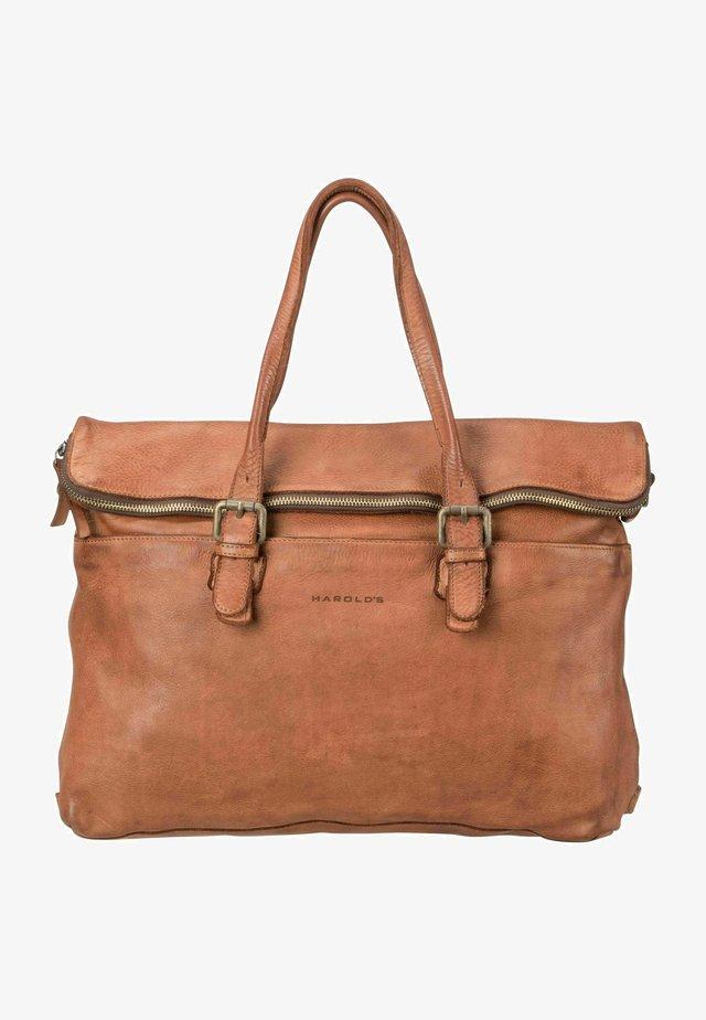 SUBMARINE  - Briefcase - cognac
