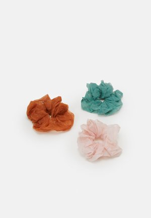 PCSLOANE OVERSIZED SCRUNCHIE 3 PACK - Hårstyling-accessories - candy pink/orange/green