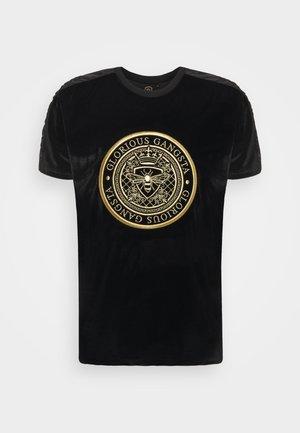 MATEO TEE - Print T-shirt - jet black