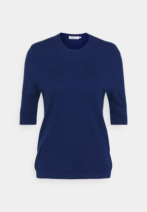 CLAIRE ELBOW SLEEVE - T-shirt basique - marine blu