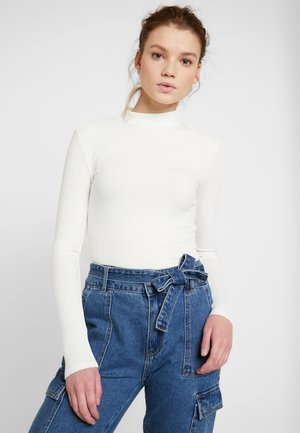 BRANDI HIGH NECK LONG SLEEVE - Topper langermet - porcelain