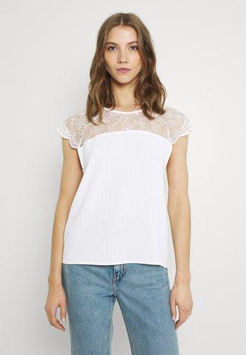 VILOVIE CAPSLEEVE - T-shirt imprimé - cloud dancer