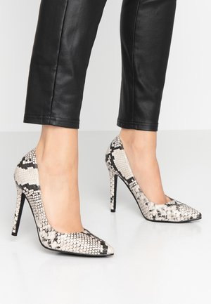 High heels - black/grey