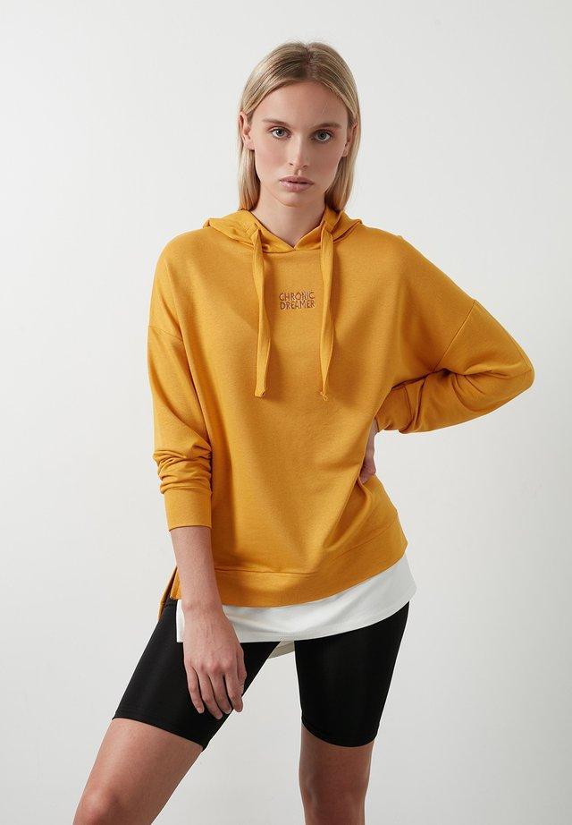 Hoodie - mustard color