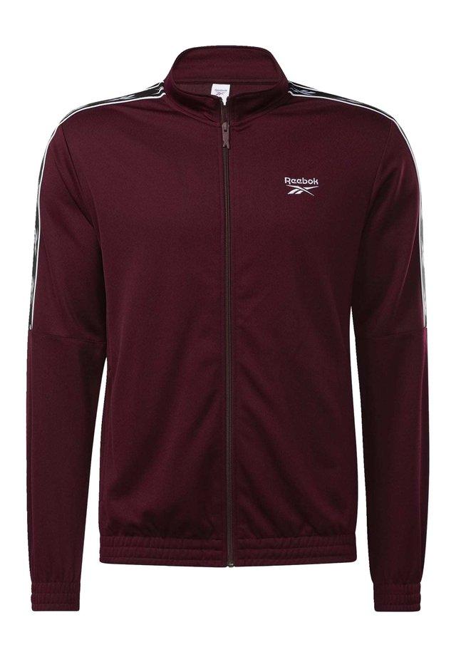 CLASSICS VECTOR TAPE TRACK TOP - Training jacket - burgundy