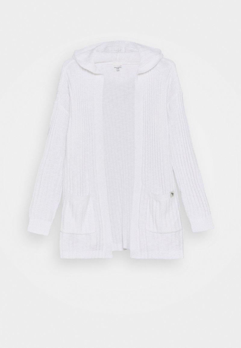Abercrombie & Fitch - LONG - Kardigan - white