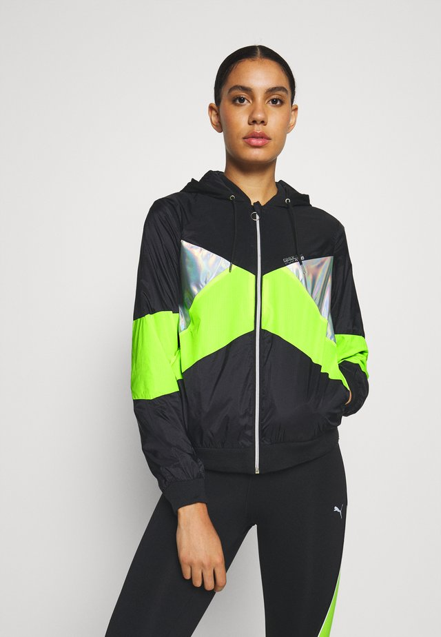 ONPAGATA JACKET - Veste de survêtement - black/safety yellow /iridescent