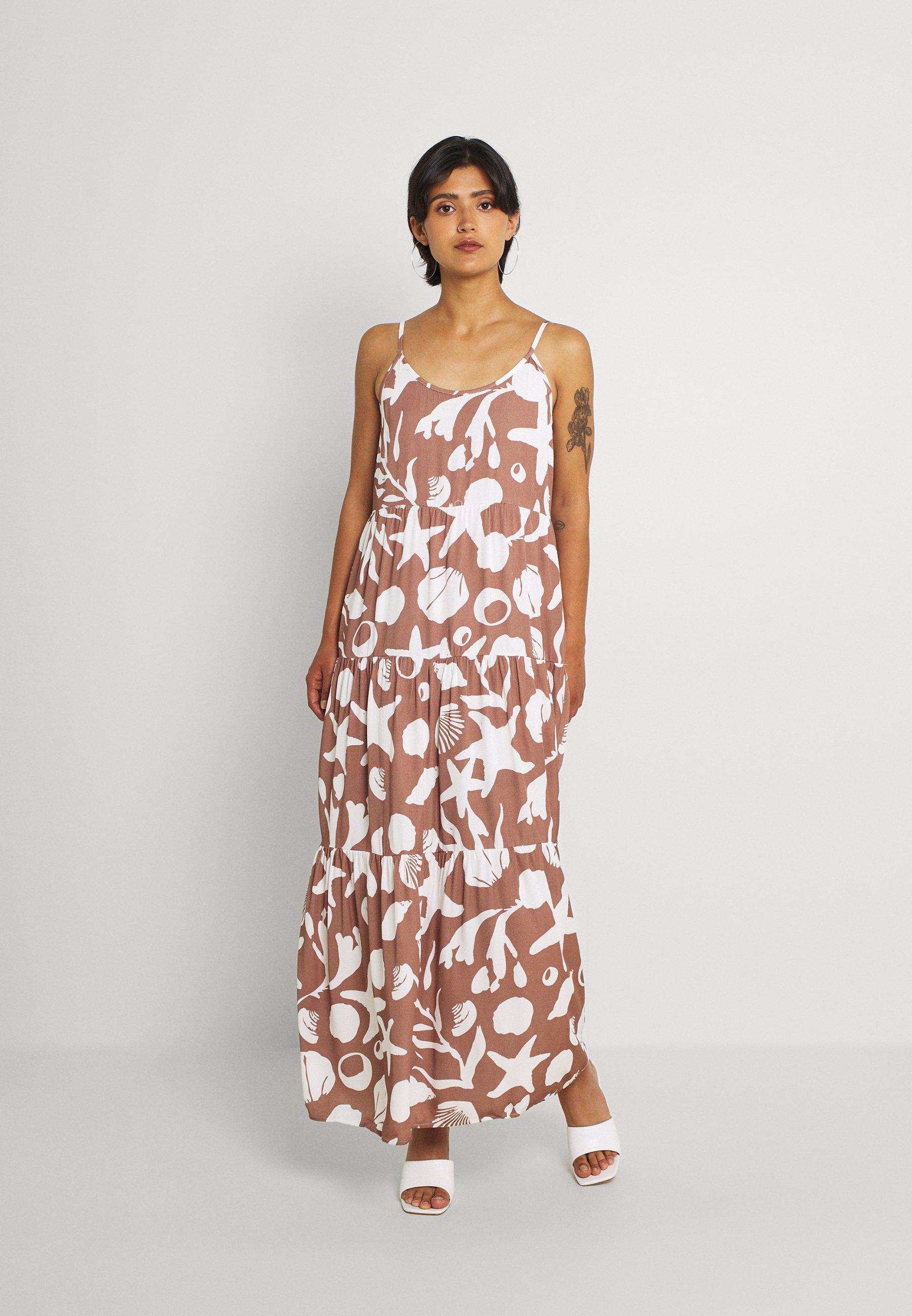 Donna CAMI STRAP TIERED DRESS - Vestito lungo
